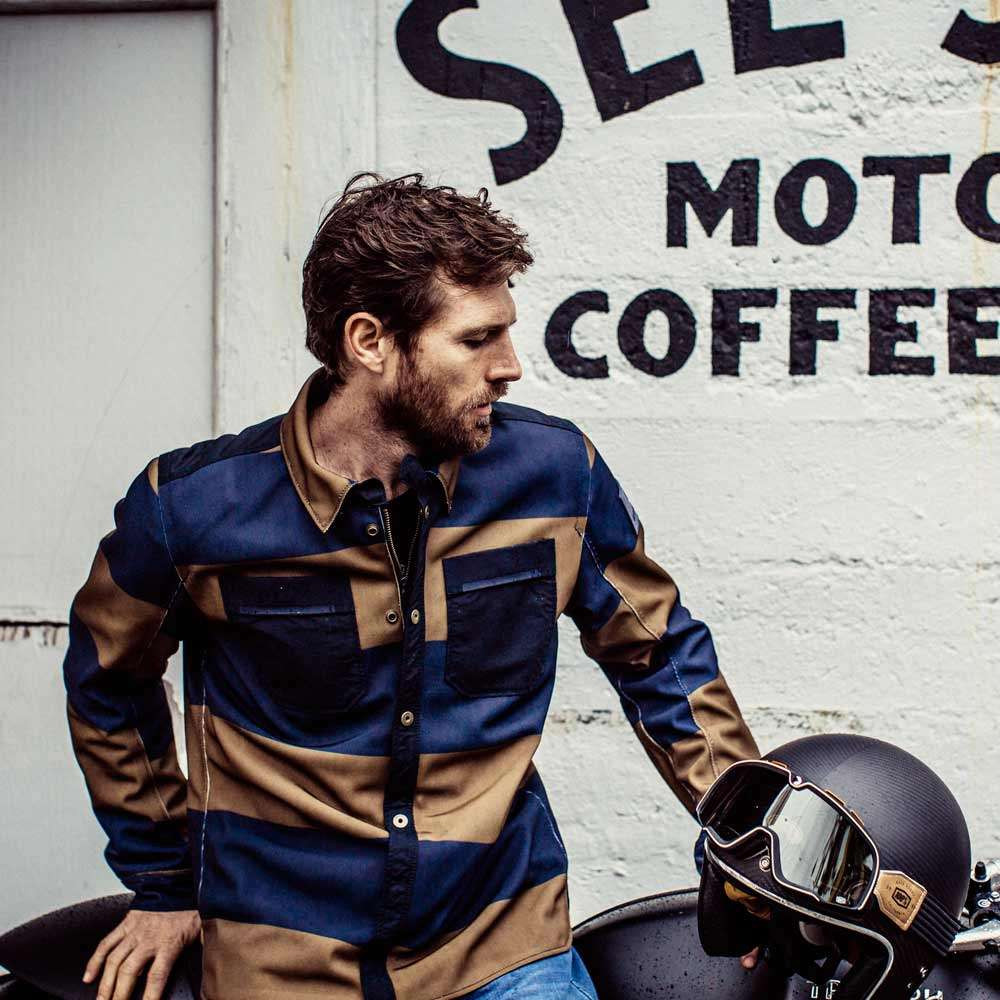 REV'IT Tracer Air Overshirt - Brown / Blue
