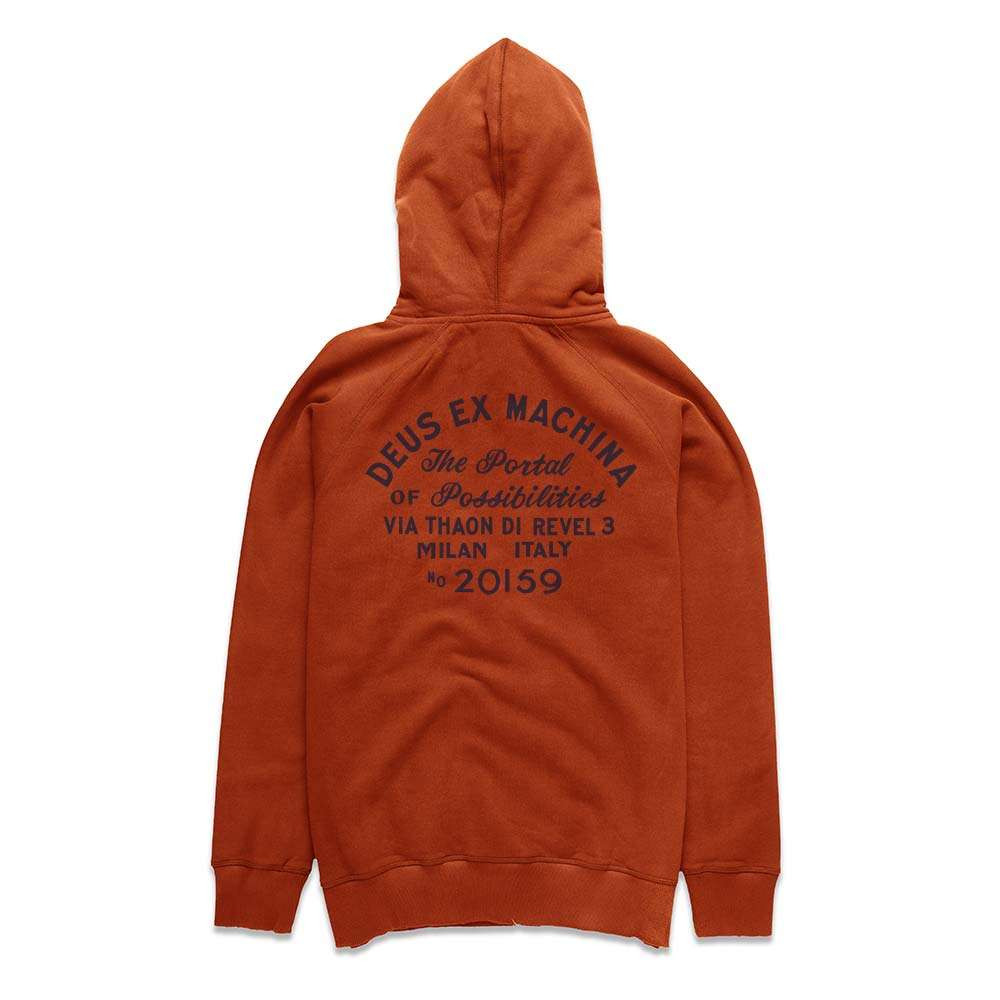 Deus Ex Machina Sunbleached Possibilities Hoodie - Red Clay