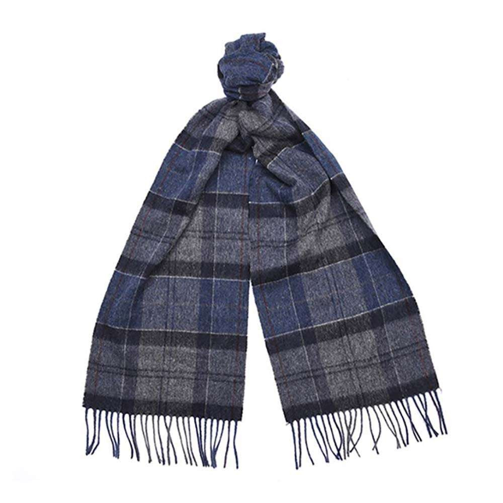Barbour Tartan Scarf - Navy / Grey
