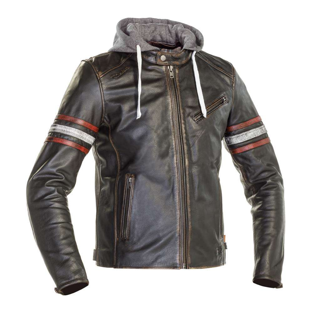 Richa Toulon 2 Leather Jacket - Black / Red