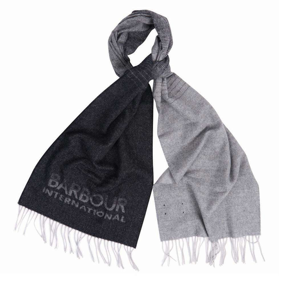 Barbour International Throttle Scarf - Black / Grey