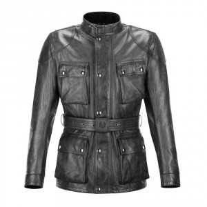 Belstaff Trialmaster Pro Leather Jacket - Black