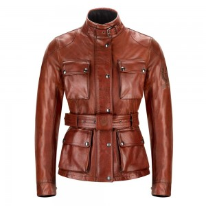 Belstaff Trialmaster Pro Leather Ladies Jacket - Red
