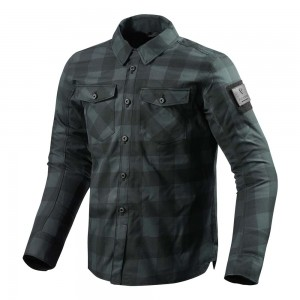 REV'IT Bison Overshirt - Black / Grey