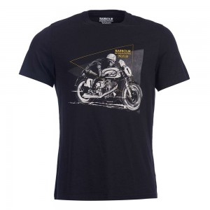 Barbour International Norton Racer T Shirt - Black