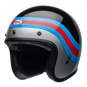 Bell Custom 500 Deluxe Helmet - Pulse Black / Blue / Red