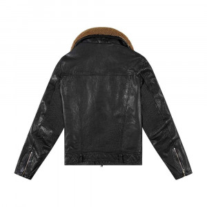Deus Ex Machina Nail Leather Jacket - Black