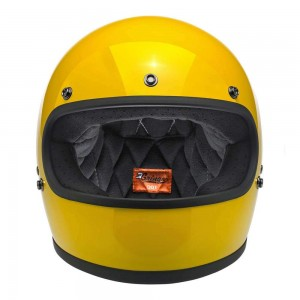 Biltwell Gringo DOT Helmet - Safe-T Yellow