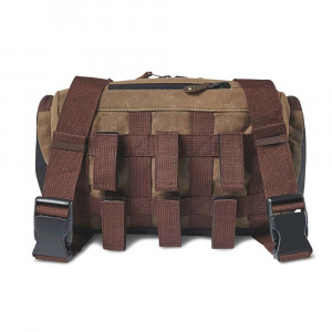 Roland Sands GTFO Wax Cotton Handlebar Bag - Ranger