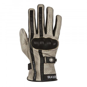 Helstons Eagle Perforated Gloves - Beige / Black