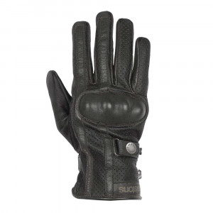 Helstons Eagle Perforated Gloves - Black