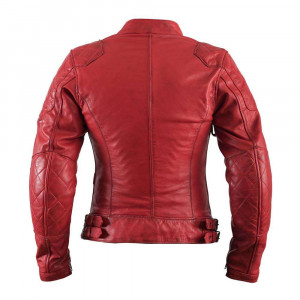 Helstons KS70 Leather Womens Jacket - Soft Red