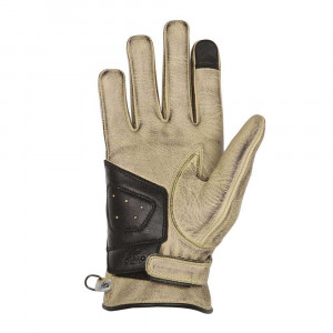 Helstons Panther Womens Gloves - Beige / Black