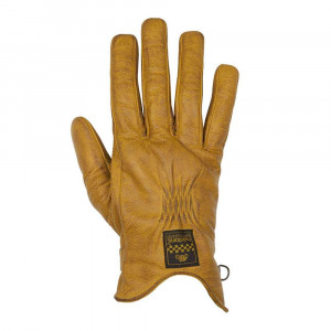Helstons Swallow Womens Gloves - Gold / Brown