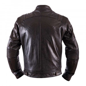 Helstons Trust Leather Jacket - Dirty Brown