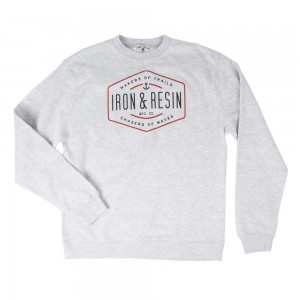 Iron And Resin Trails and Waves Fleece - Heather Grey