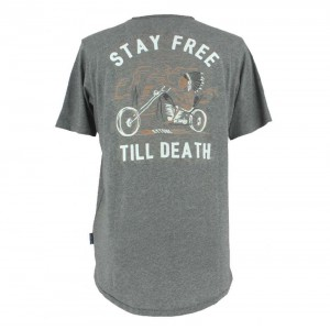 Kytone Stay Free T Shirt - Grey