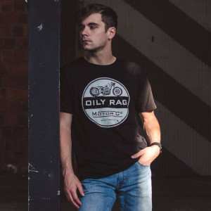 Oily Rag Clothing Black Label Motor Co T Shirt - Black