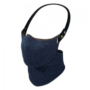 Rare Bird Face Mask - Navy Herringbone