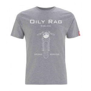 Oily Rag Clothing Black Label Cafe Racer T Shirt - Grey