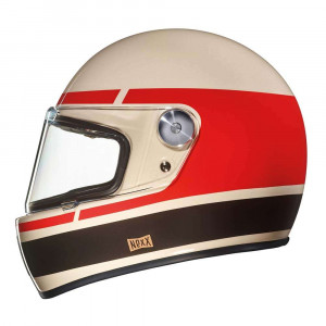 Nexx XG100R Record Helmet - Cream / Red / Brown