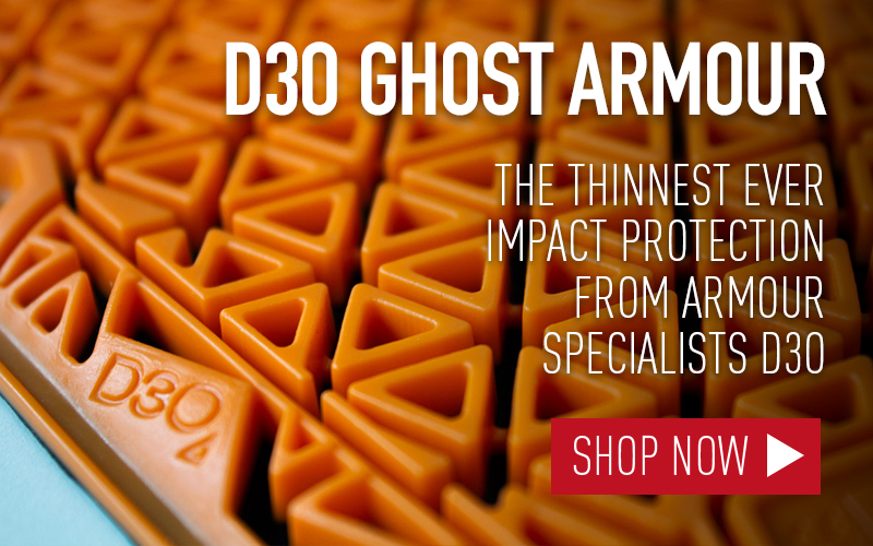 D3O GHOST ARMOUR THINNEST MOTORCYCLE ARMOUR