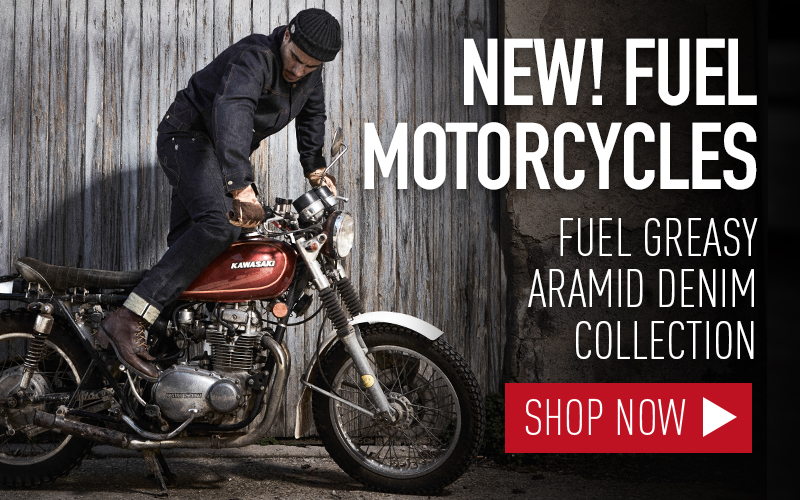 New Fuel Greasy denim collection kevlar motorcycle jeans