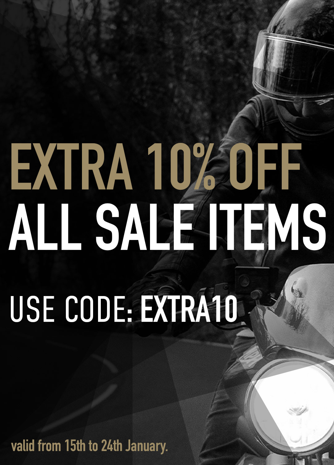 motorcycle clothing sale extra 10% off sale items