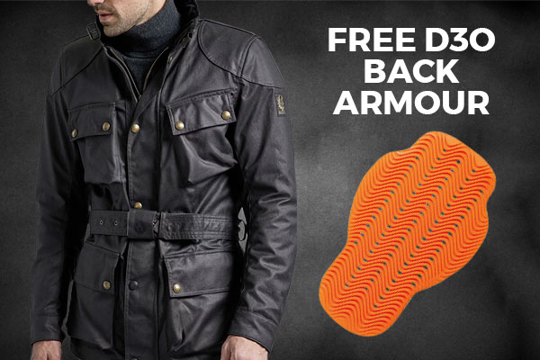 Free d3O back armour with Belstaff jackets