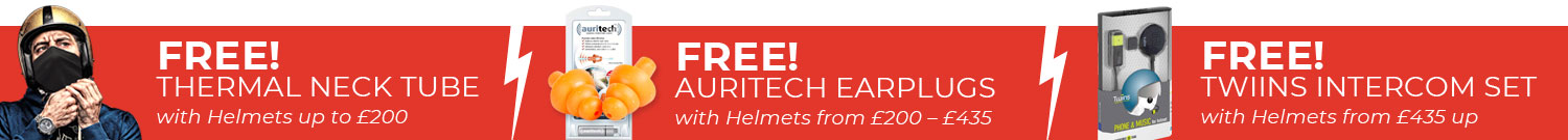 Free Gifts with Helmets