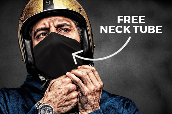 Free neck tube with helmets
