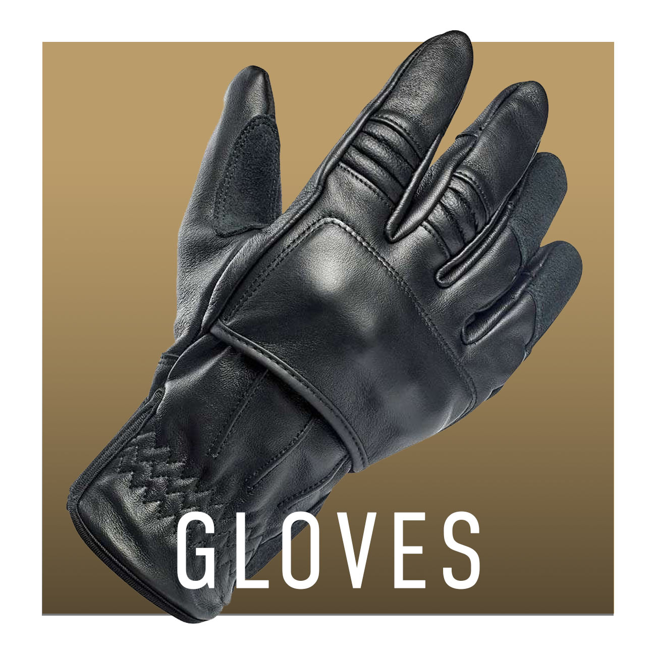 Classic motorcycle gloves for cafe racer