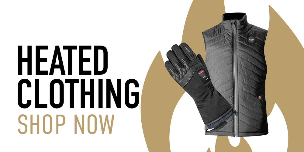 heated motorcycle gloves, jackets and other clothing