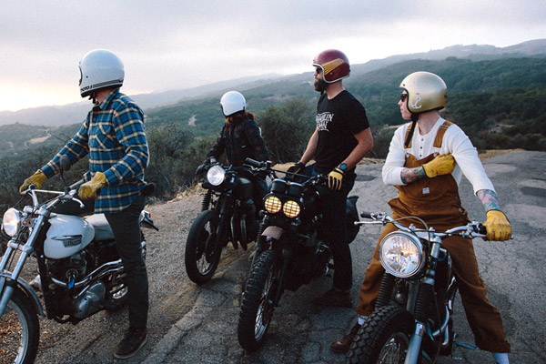 friends and motorcycle