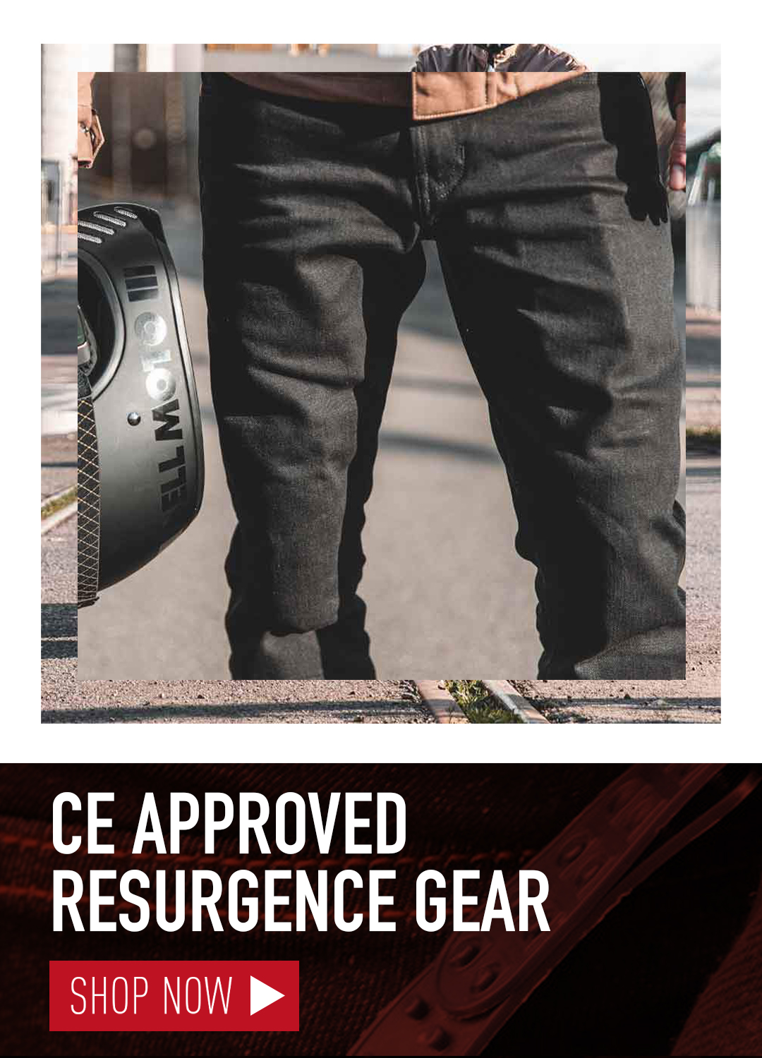 NEW RESURGENCE CAFE RACER JEANS CE APPROVED MOTORCYCLE JEANS