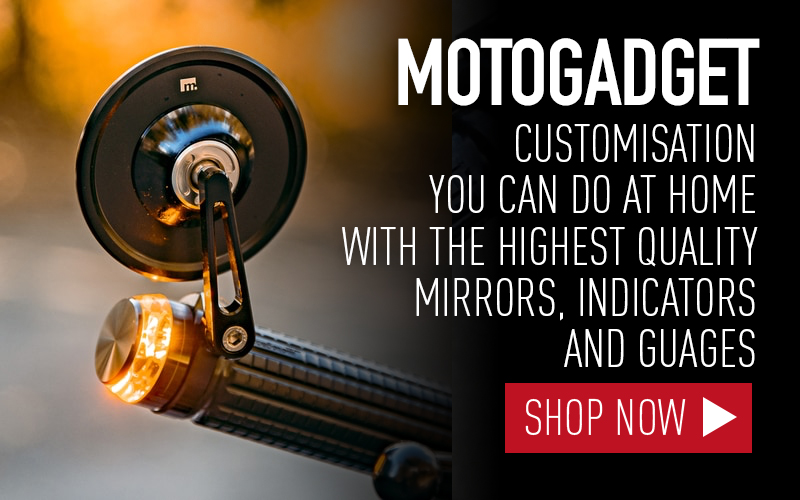 Motogadget motorcycle indicators custom motorcycle mirrors