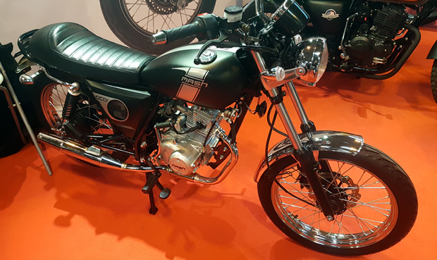 A Mash motorcycle on display at Motorcycle Live