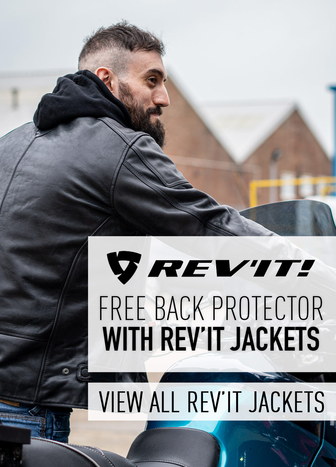 FREE BACK PROTECTOR WITH REV'IT MOTORCYCLE JACKET