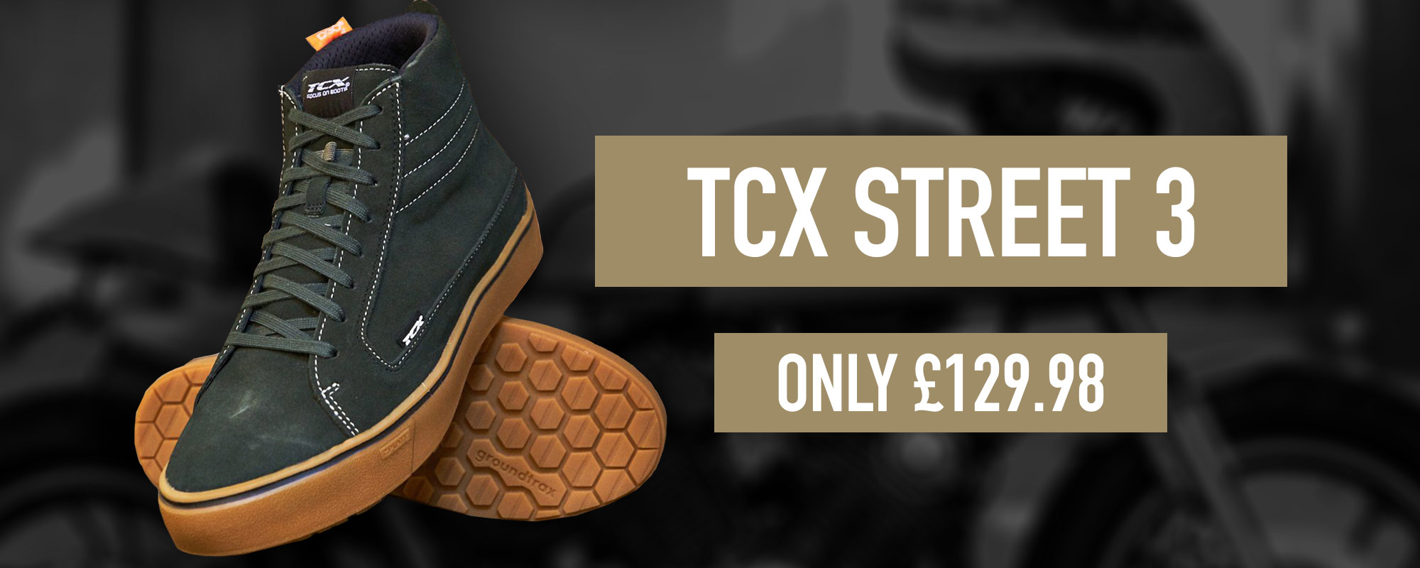 New TCX Street 3 Motorcycle trainer boots