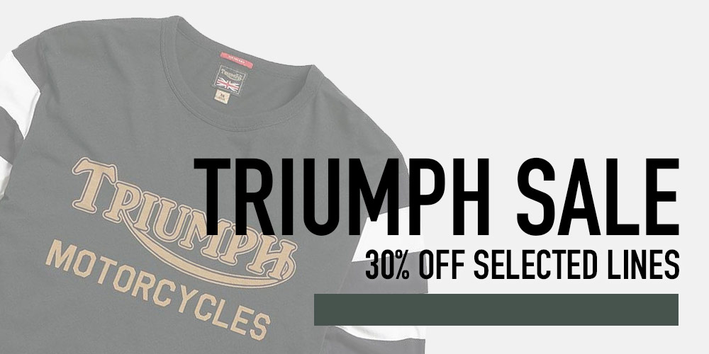 triumph motorcycle clothing sale up to 30% off